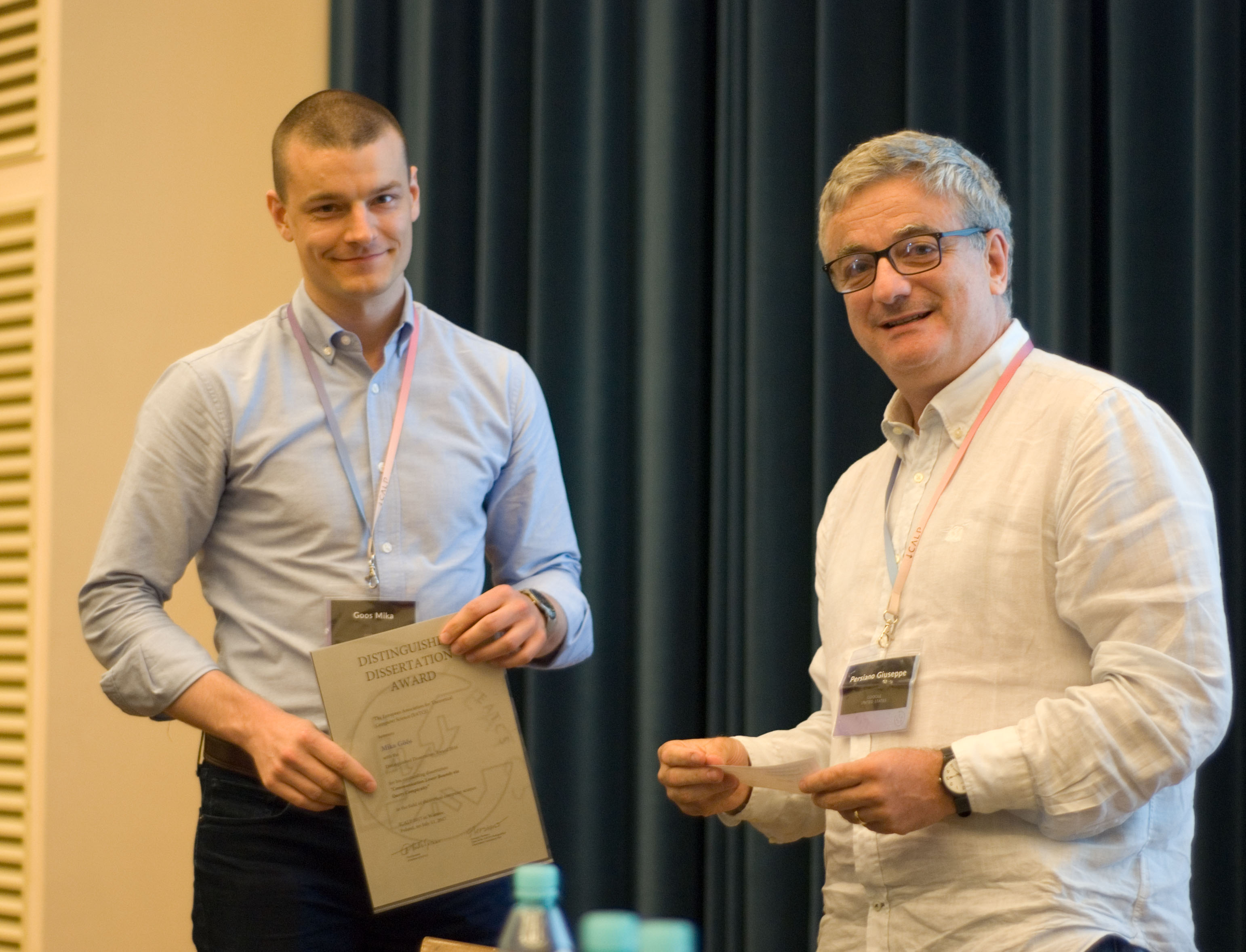 Mika Göös receives EATCS Distinguished Dissertation Award