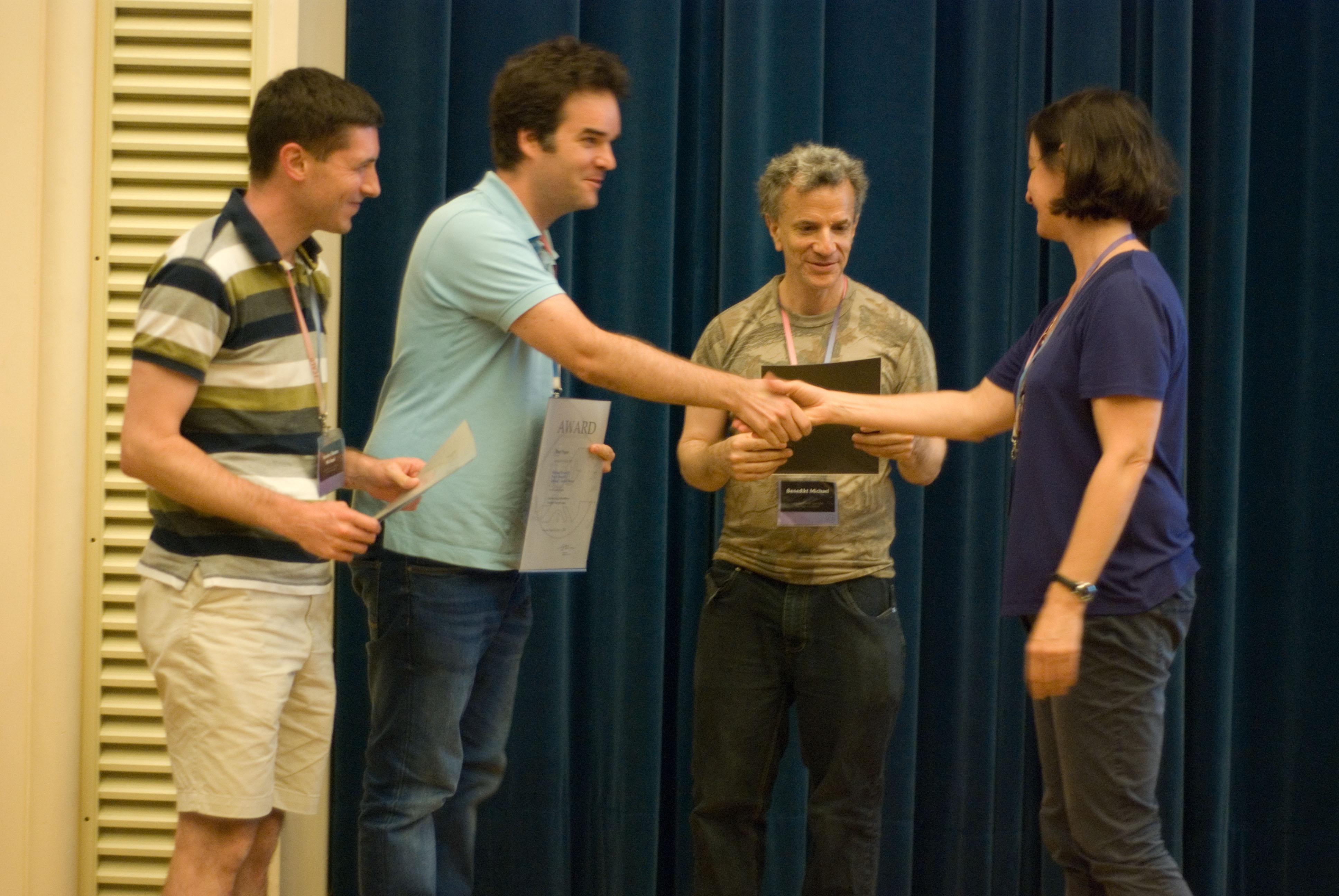 Michael Benedikt, Pierre Bourhis and Michael Vanden Boom receive ICALP Track B Best Paper Award