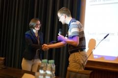 Alexandra Silva receiveing EATCS Presburger Award